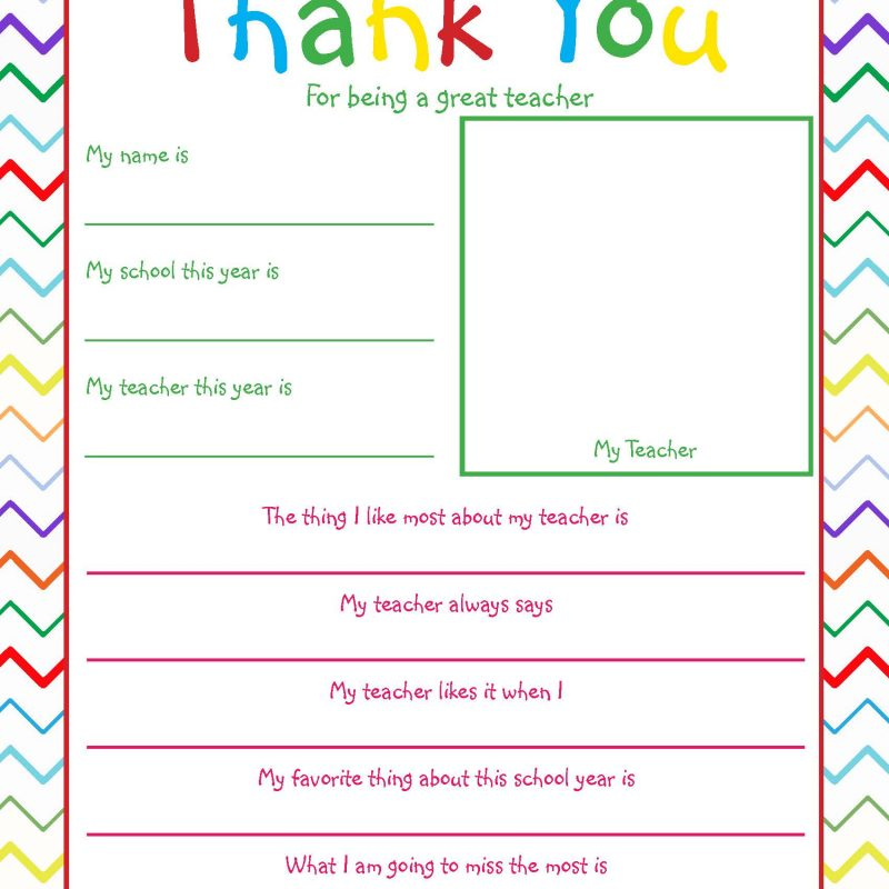photograph about Teacher Favorite Things Printable named Youngster Questionnaires - What Mommy Does