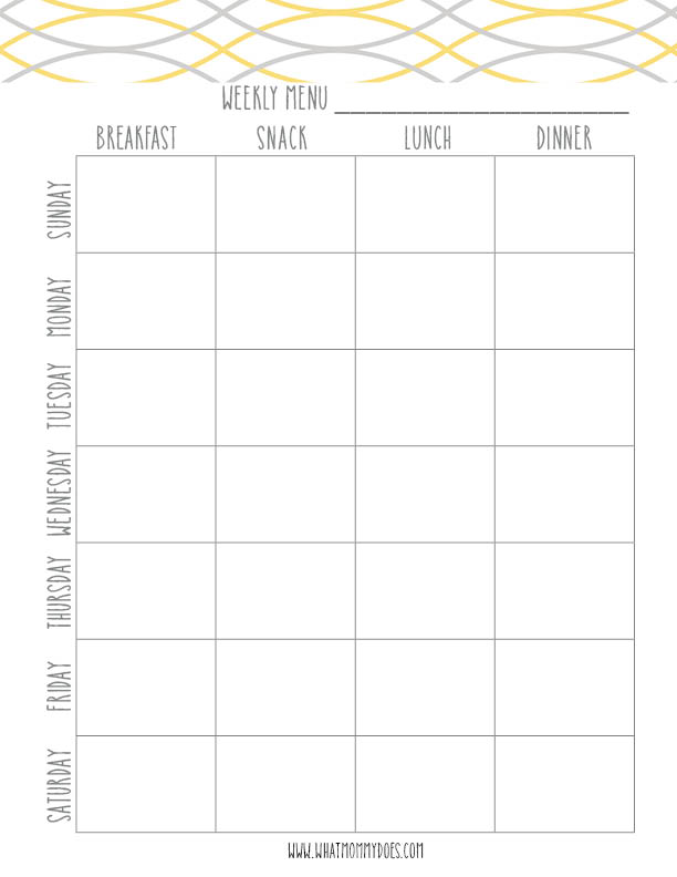 Free printable meal plan calendar! There is an entire free printable 2019 calendar as well.