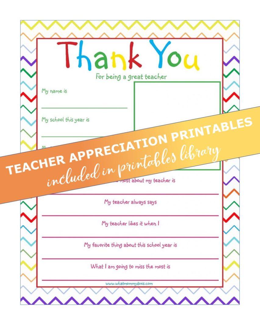 teacher appreciation letter - rainbow squiggles
