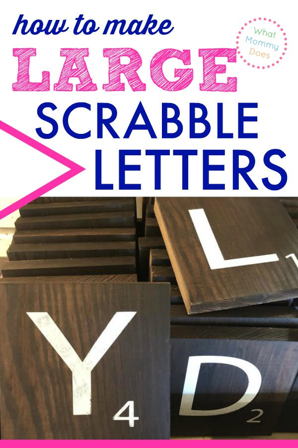 With giant Scrabble tiles you can make an AMAZING wall art display. Use these step-by-step tutorials for making HUGE Scrabble pieces and watch the gallery wall of your dreams come to life!