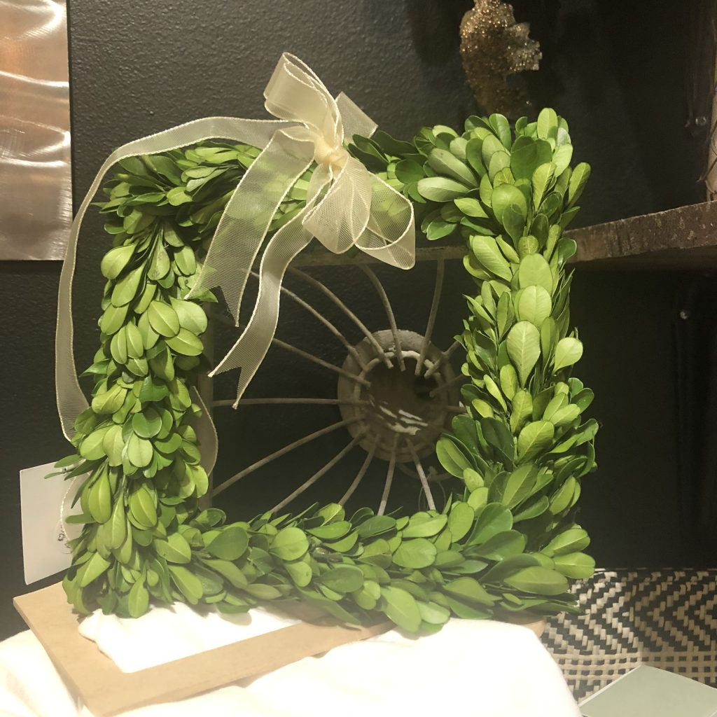 square greenery wreath