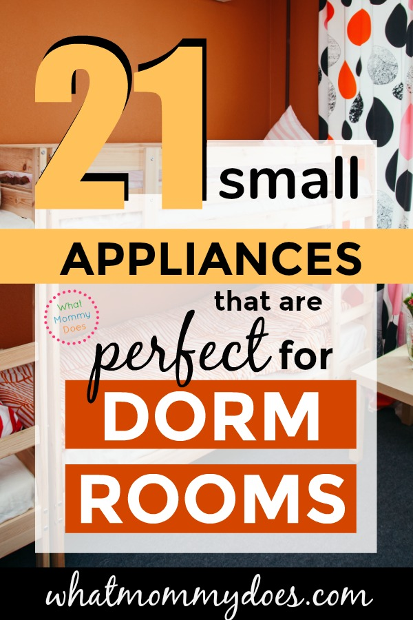 Before you leave for college, check out this list of SMALL APPLIANCES perfect for a dorm room! Some miniature fridges, microwaves, even grills and Instant Pots are allowed on college campuses!