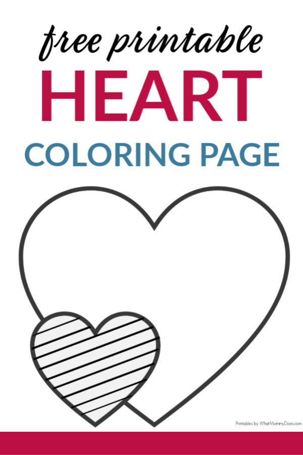 Easy Heart Coloring Pages For Kids {Stripe Patterns!} - What Mommy Does
