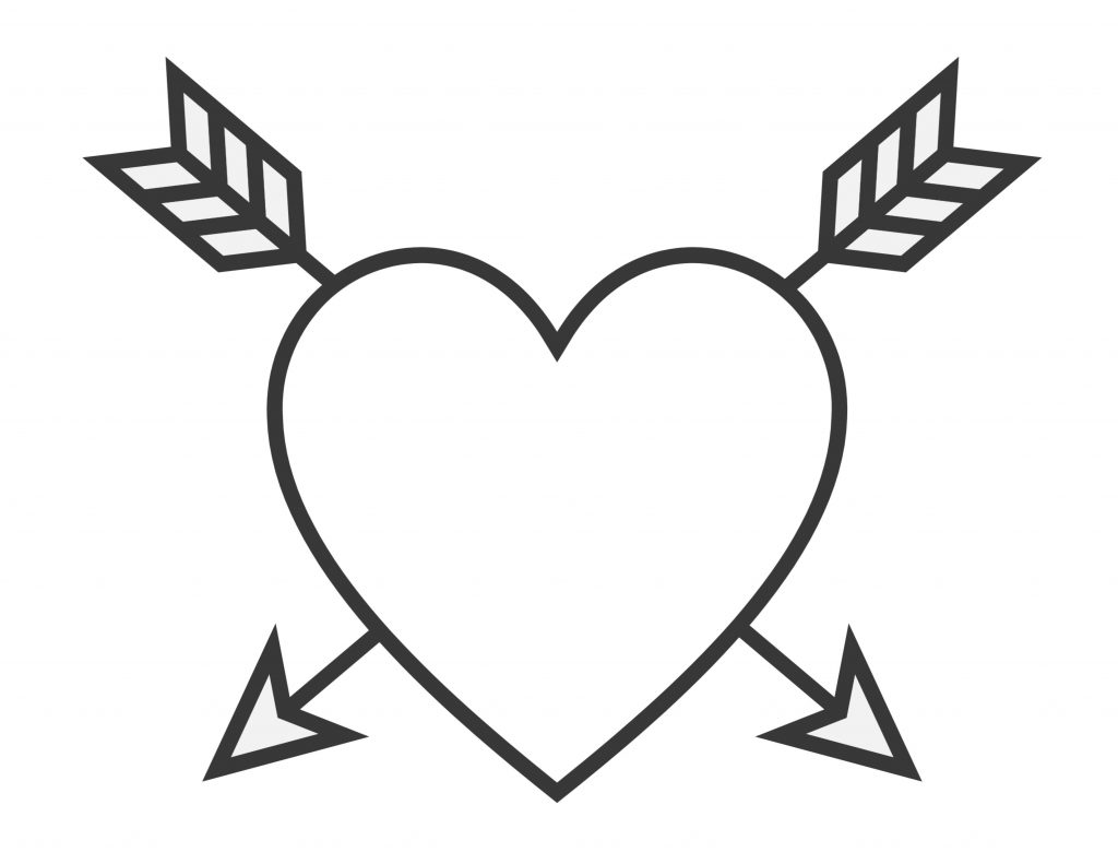 Printable Valentine's Day Heart with Arrows