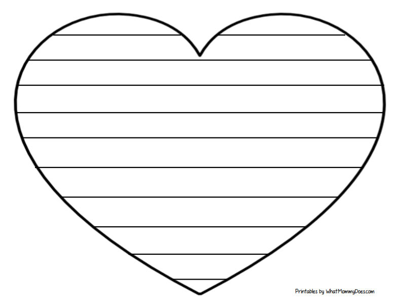 striped heart image to write on - good for Valentine's Day cards