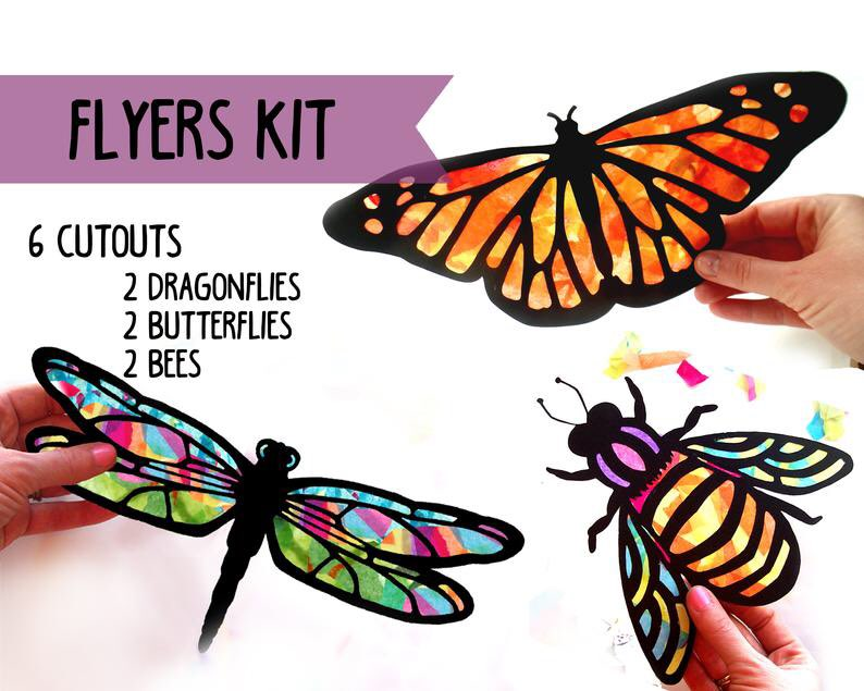 picture of butterly suncatcher kit