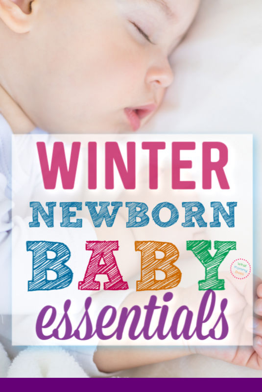 blog post about winter newborn must have items