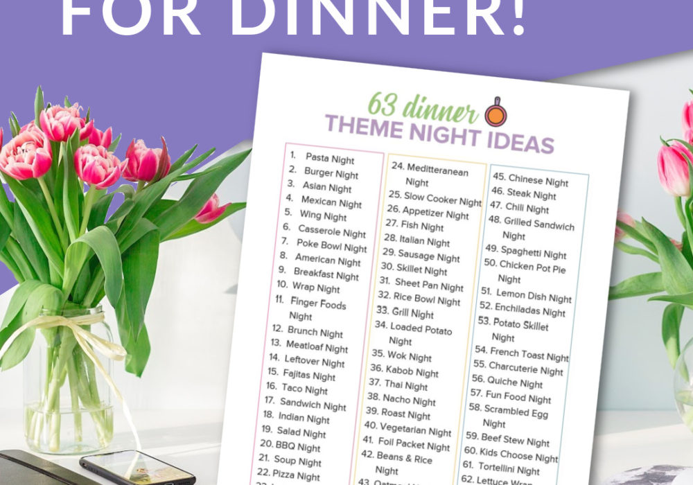 63 Weekly Meal Theme Night Ideas
