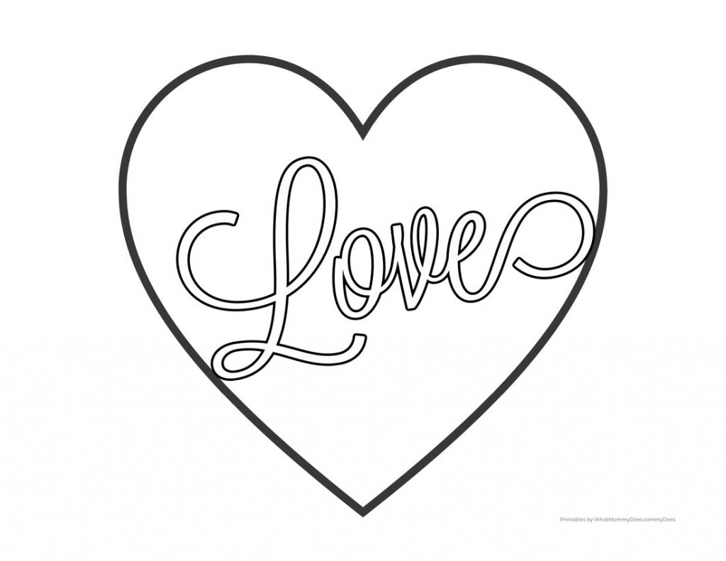 Love Heart Coloring Pages Free Printables What Mommy Does