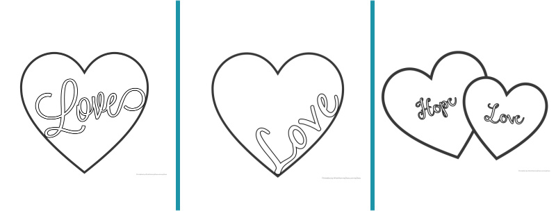 Love Heart Coloring Pages {Free Printables!} - What Mommy Does