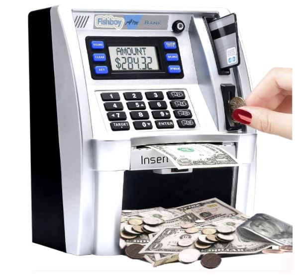 youth ATM machine with debit card.