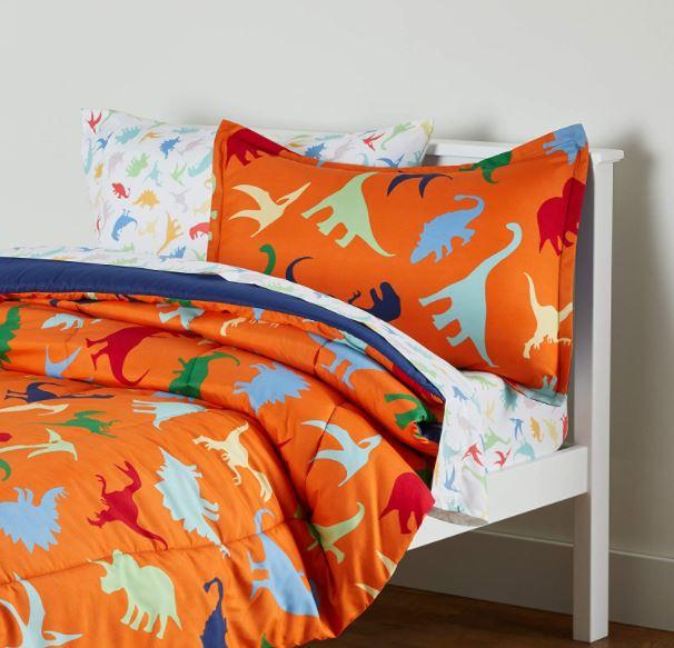 children's dinosaur bed set