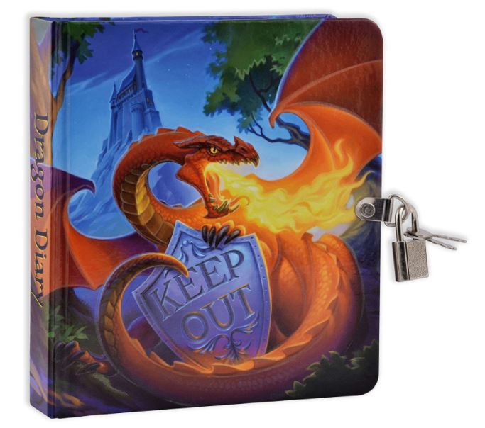 glow in the dark dragon journal for a kid