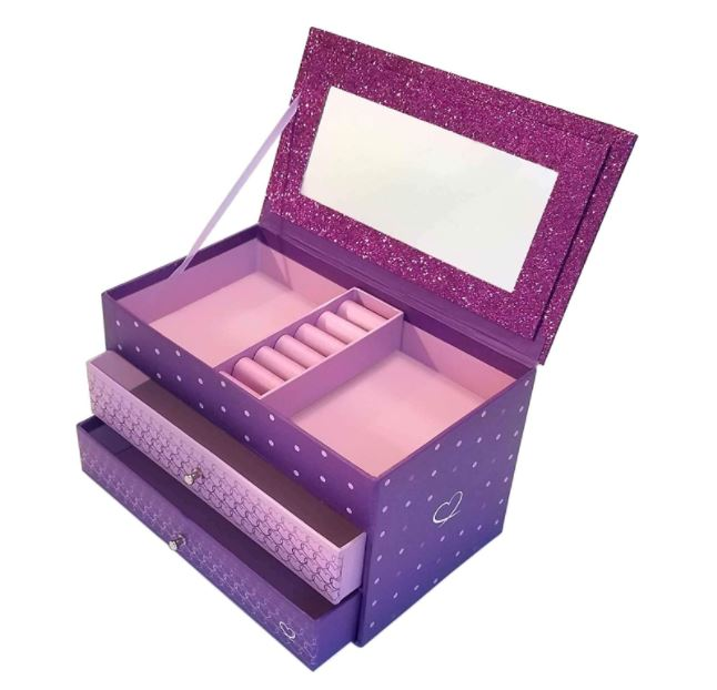 little girl's purple jewelry box