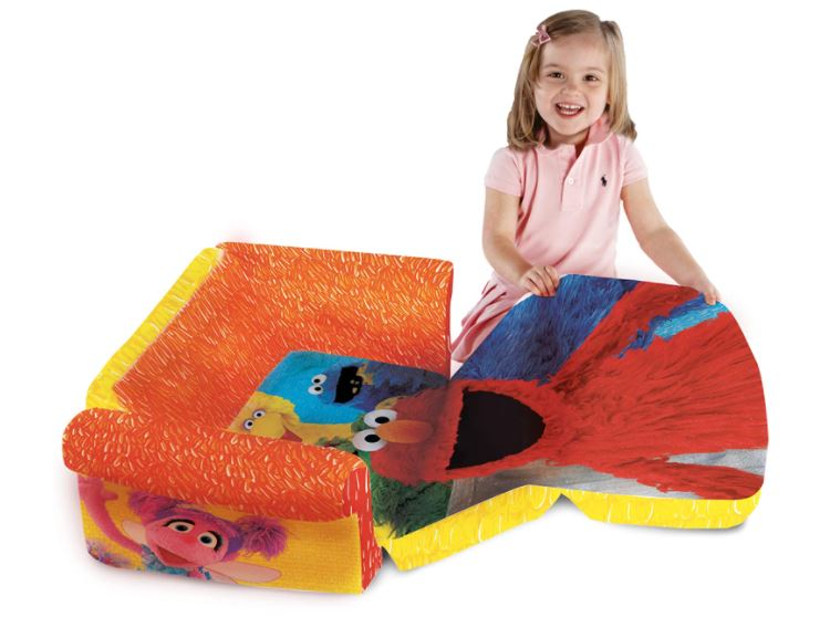 soft foldable mini couch for a child