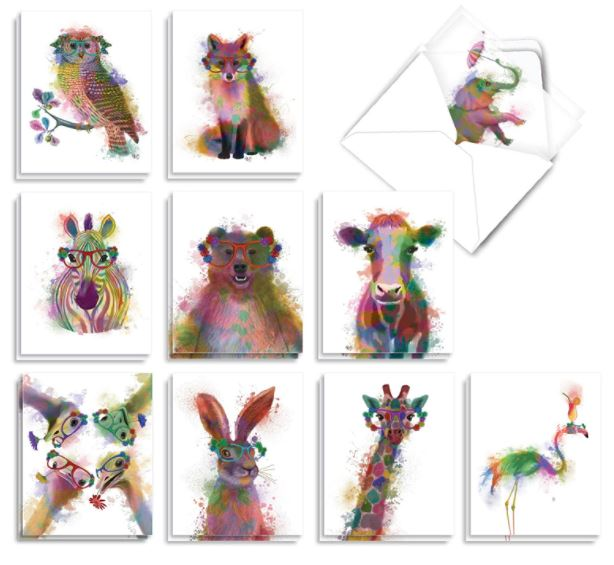 cute animals notecards for kids
