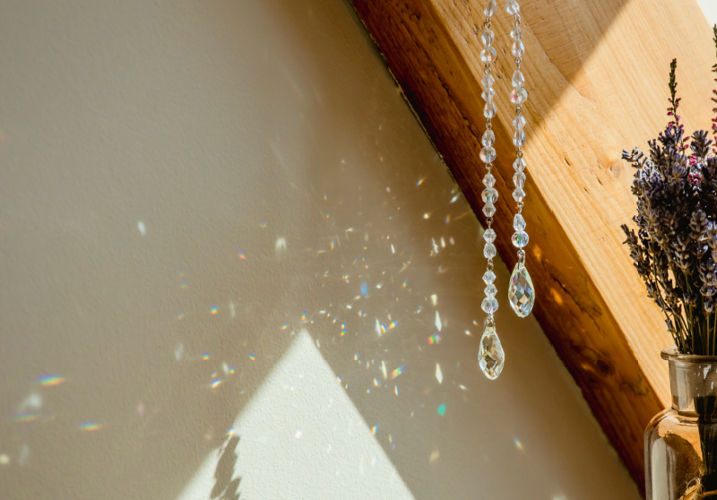 Suncatcher made from jewels for children to make