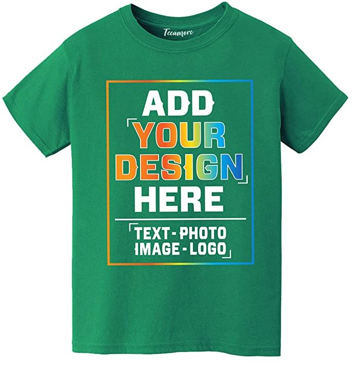 customizable t-shirt for a family event in green