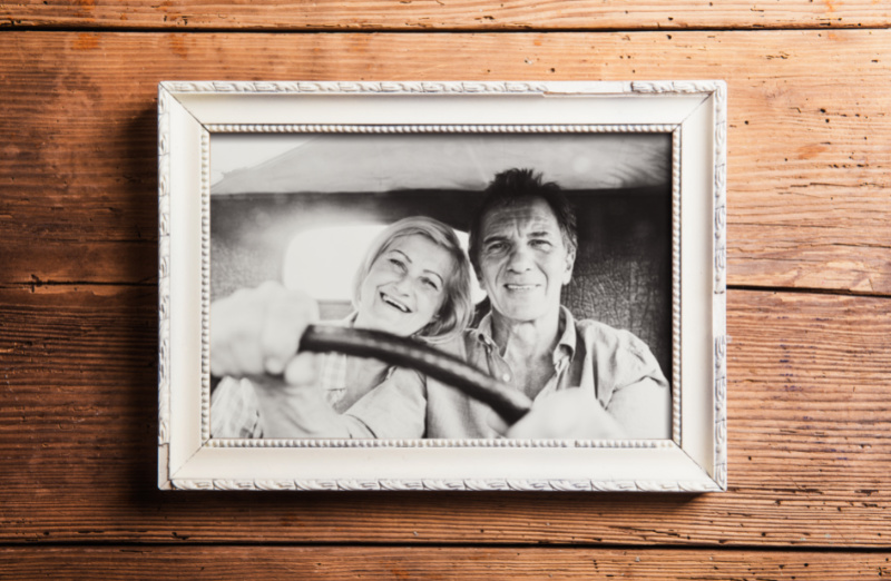 framed photo of a couple as a gift