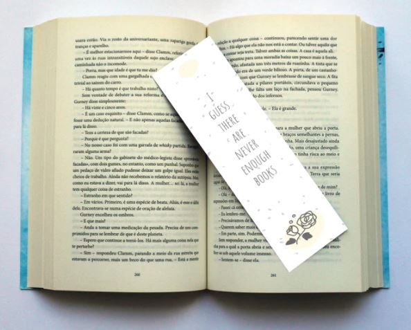 simple book mark on a book
