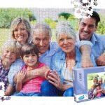 Family photo turned into a puzzle for the perfect gift